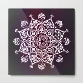 Purple Glowing Moon Blossom Metal Print