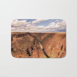 Rio Grande Gorge - Landscape on Autumn Day Near Taos, New Mexico Bath Mat