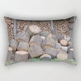 AFTER ENLIGHTENMENT CHOP WOOD Rectangular Pillow