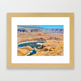 Soaring Over Turquoise and Sandstone II Framed Art Print