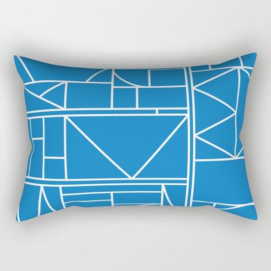 Kaku Blue 2 Rectangular Pillow