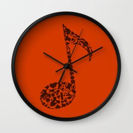 Clothes the note Wall Clock