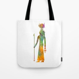 Egyptian god Hathor in watercolor Tote Bag