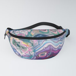 Fluid Nature - Coral Reef-  Abstract Acrylic Pour Art Fanny Pack