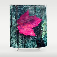 woods Shower Curtains featuring woods  by mark ashkenazi