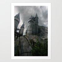 hogwarts Art Prints featuring Hogwarts by Jessica Krzywicki
