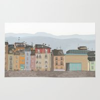 cityscape Area & Throw Rugs featuring Cityscape by Paint Your Idea