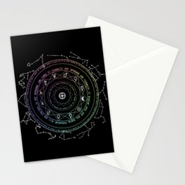 Astrological Magic Circle Stationery Cards