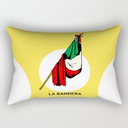 La Bandera Mexican Loteria Card Rectangular Pillow