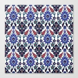 Turkish Tulip Motif Tile Pattern Canvas Print