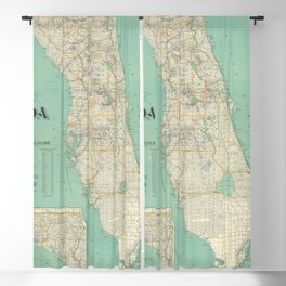 Vintage Florida Map (1916) Blackout Curtain