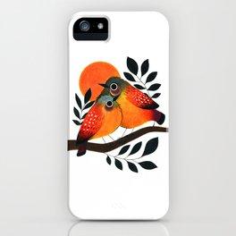 Fluffy Birds iPhone Case