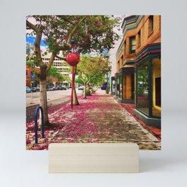 Blooming Sidewalks in Downtown Long Beach Mini Art Print