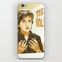 teen wolf iPhone & iPod Skins featuring Teen Wolf by IBTrav Pop Shop
