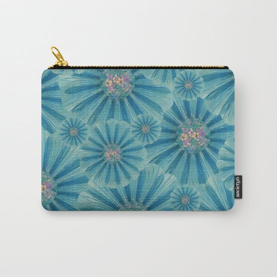 Fractal Flower Pattern Carry-All Pouch