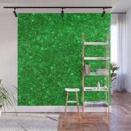 Glitter Green Image Wall Mural