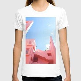 Pink Building (Color) T-shirt