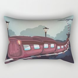 Train to the Moon Rectangular Pillow