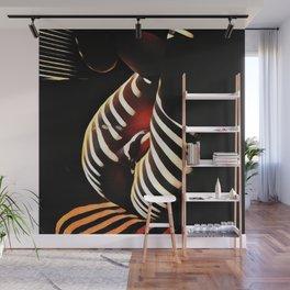 0885s-AK Sunlight Stripes Reveal Her Sensual Feminine Power Wall Mural