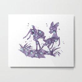 Bambi and Faline Disneys Metal Print