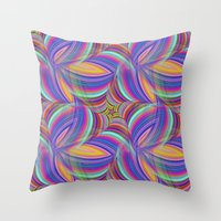 psychedelic Throw Pillows featuring Psychedelic by David Zydd