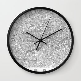London Map Line Wall Clock