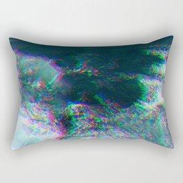 Oceanic Glitches - Deep Green Rectangular Pillow