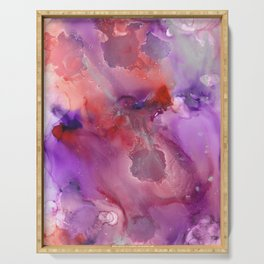 Alcohol Ink 'The Last Unicorn' Serving Tray