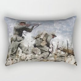War in the Pacific, WWII Rectangular Pillow