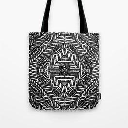 Tile Design Achromatic Tote Bag