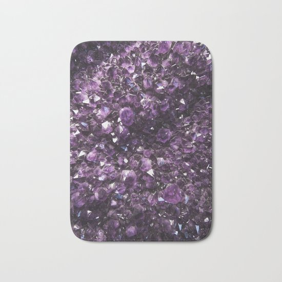 Amethyst Crystal Photography | Nature | Geology | Gemstone | Purple Bath Mat