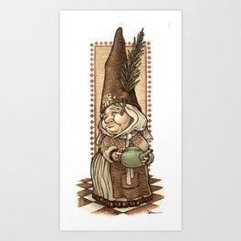 Gnome Tea Time Art Print