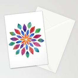 Rainbow Leaves Stationery Cards