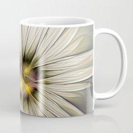 Blossom, Abstract Fantasy Flower Fractal Art Coffee Mug