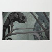 chameleon Area & Throw Rugs featuring Chameleon by Andrew Formosa