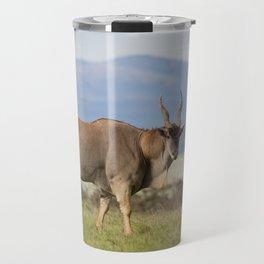 Eland with blue Kenyan hills Travel Mug