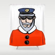 Santa Cop Shower Curtain