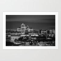 dublin Art Prints featuring Dublin by Maciej Pietuszynski