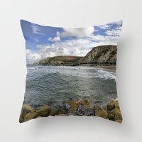 agnes Throw Pillows featuring St Agnes by Mark Nelson