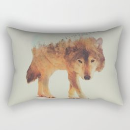 Nature Wolf Rectangular Pillow