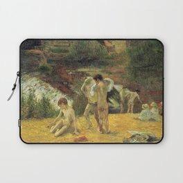 Paul Gauguin - Breton Boys Bathing (The Bathing by the Mill in Bois d'Amour, Pont-Aven) (1886) Laptop Sleeve