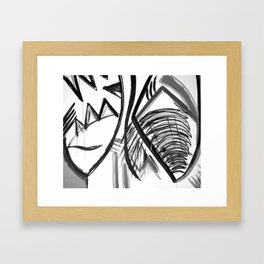 Abstract Dreams in black and white, pillow Framed Art Print