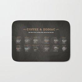 Coffee type and Zodiac sign #3 Bath Mat