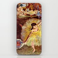 degas iPhone & iPod Skins featuring Dancer with Bouquet by PureVintageLove