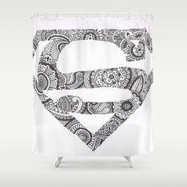 Super Symbol Doodle Shower Curtain