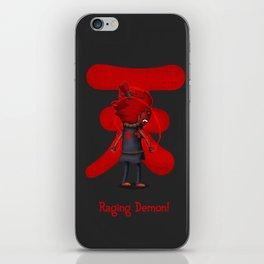 Raging Demon iPhone Skin