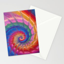 Spring into action with colour spirals Stationery Cards