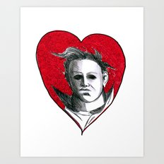 Micheal Myers (All Heart) Art Print