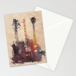 guitars 3 Stationery Cards