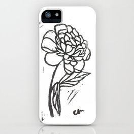 Hand Stamped Flower iPhone Case